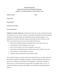 Research Proposal Form for Distinction in Education