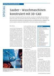 Waschmaschinen konstruiert mit 3D-CAD - Solid Solutions AG