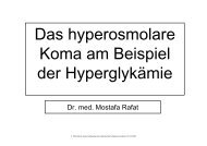 Das hyperosmolare Koma am Beispiel der Hyperglykämie