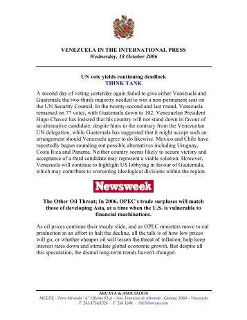 Caracas, 3 de octubre de 2003 - Offnews.info