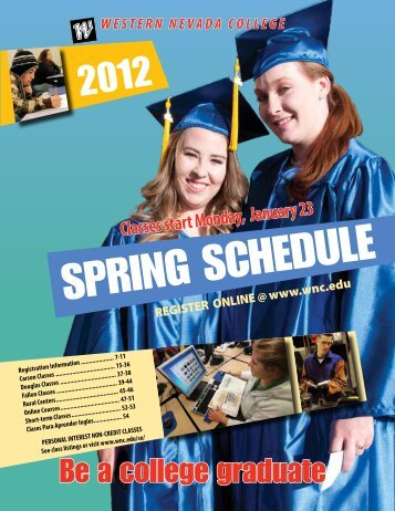 Spring 2012 Printed Schedule - Western Nevada College