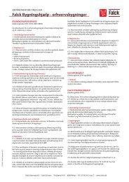 Generelle abonnementsbetingelser - Erhverv - Falck