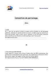 Convention de parrainage - Union Nationale GEM FRANCE