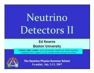 Ed Kearns Boston University - Fermilab