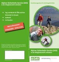 Alpiner Sicherheits-Service (ASS) - Alpenverein - Sektion Schleiden