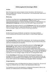 (PDF) Erfahrungsbericht Groningen (RUG)