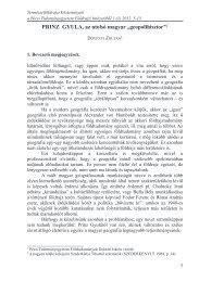 PRINZ GYULA, az utolsó magyar - PTE TTK FI - Pécsi ...
