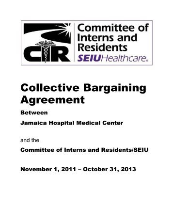 Collective Bargaining Agreement - Committee of Interns and ...