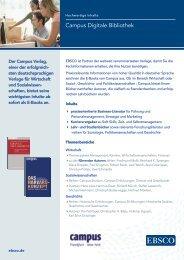 Campus Digitale Bibliothek - EBSCO Information Services