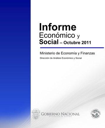 Informe Economico y Social - Octubre 2011 - Ministerio de ...