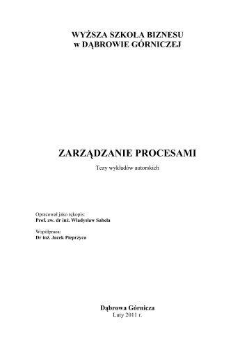 Dąbrowa Górnicza - Wyższa Szkoła Biznesu w Dąbrowie Górniczej