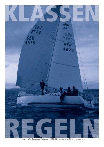 Geltungsbereich Bodensee, Ausgabe 08.11.2002 ... - rommel yachts