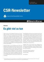 CSR Newsletter Ernst&Young; - Rudolf X. Ruter