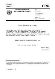 CRC Convention relative aux droits de l'enfant