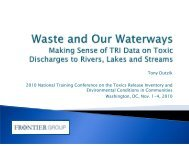 Waste and Our Waterways - ChemicalRight2Know