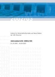 Jahresbericht 2002/03 - Institut für Wirtschaftsinformatik und neue ...