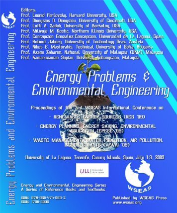 Energy Problems and Environmental Engineering - Wseas.us