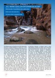Reiseprogramm - Deutscher Verein vom Heiligen Lande