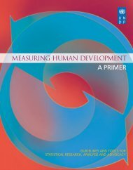 Measuring Human Development: A Primer - UNDP in Egypt