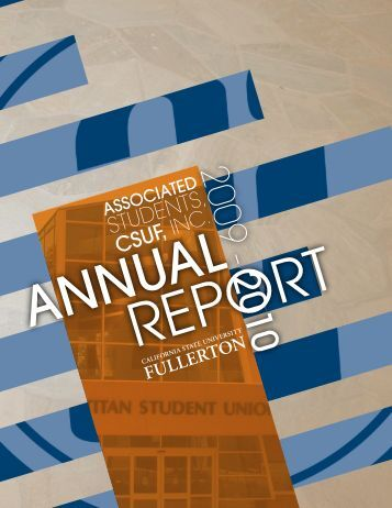 2009-2010 Annual Report - Associated Students, Inc. - California ...