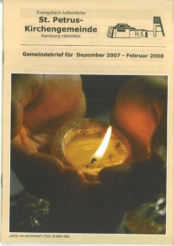 Gemeindebrief für Dezember 2007 bis Februar 2008 - St. Petrus ...