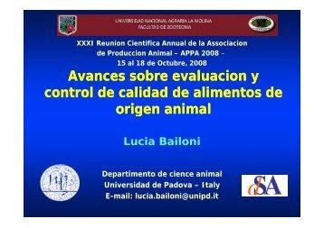 Food quality - Universidad Nacional Agraria La Molina