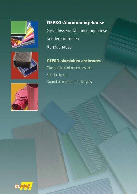 GEPRO-Gehäuse Aluminium-Kleingehäuse in zahlreichen ...