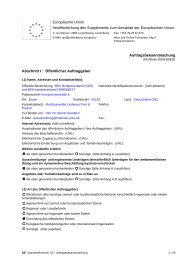 Details zur Ausschreibung - BKK-Landesverband NORDWEST