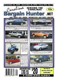 1-800-292-8203 - Carolina Bargain Hunter