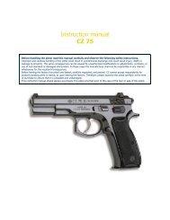 Instruction manual CZ 75