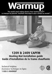 Guide d'installation - In Floor Heating