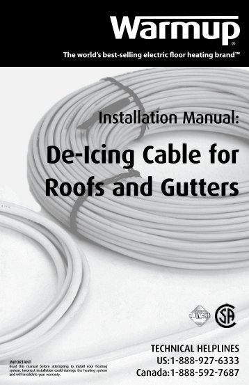 De-Icing Cable for Roofs and Gutters - Warmup