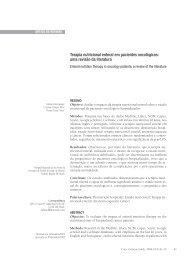 Terapia nutricional enteral em pacientes oncológicos