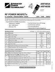 RF POWER MOSFETs ARF465A ARF465B - Richardson RFPD