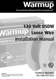 120V Installation Manual - In Floor Heating