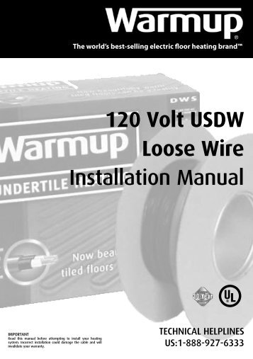 120V Installation Manual - In Floor Heating