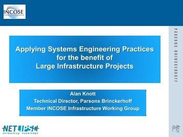 Presentation: Applying systems engineering practices ... - NETLIPSE
