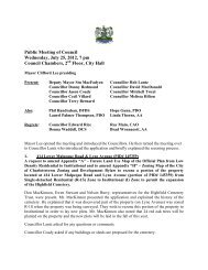 Public Meeting, July 25, 2012 - City of Charlottetown