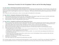 Maintenance Procedures for the Precipitation Collector and the ...