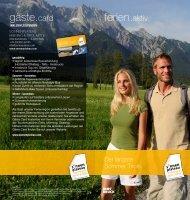 gäste card ferien aktiv - Mieminger Plateau