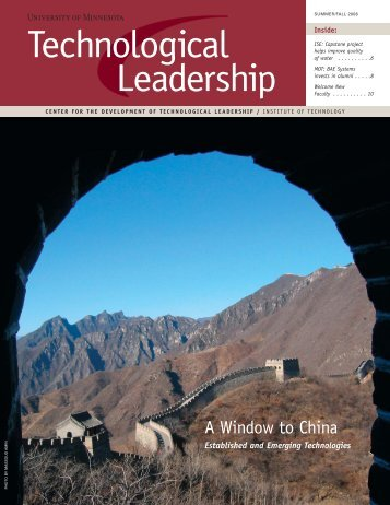 Summer/Fall 2006 - Technological Leadership Institute - University ...