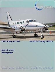 1971 King Air 100 Serial B-75 Reg. N75LA - Pacific Point Aviation