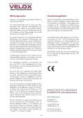velox - Pedotherm GmbH - Seite 2