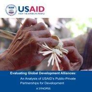 Evaluating Global Development Alliances: - usaid