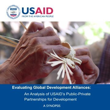 Evaluating Global Development Alliances: - usaid