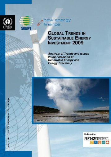 Global Trends in Sustainable Energy Investment 2009 - UNEP