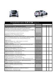 Produktinformation CLR X 530 ( Basis X 5) - Stanic Performance