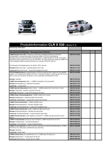 Produktinformation CLR X 530 ( Basis X 5) - Stanic Performance