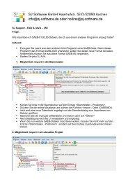 SJ Support - FAQ SJ AVA – 250 Frage: Wie importiere ich GAEB-81 ...