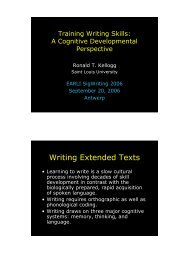 Training Writing Skills: A Cognitive Developmental Perspective